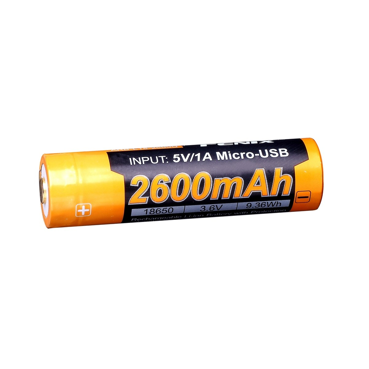 Аккумулятор 18650 Fenix 2600U mAh с разъемом для USB (+ Антисептик-спрей для рук в подарок!)