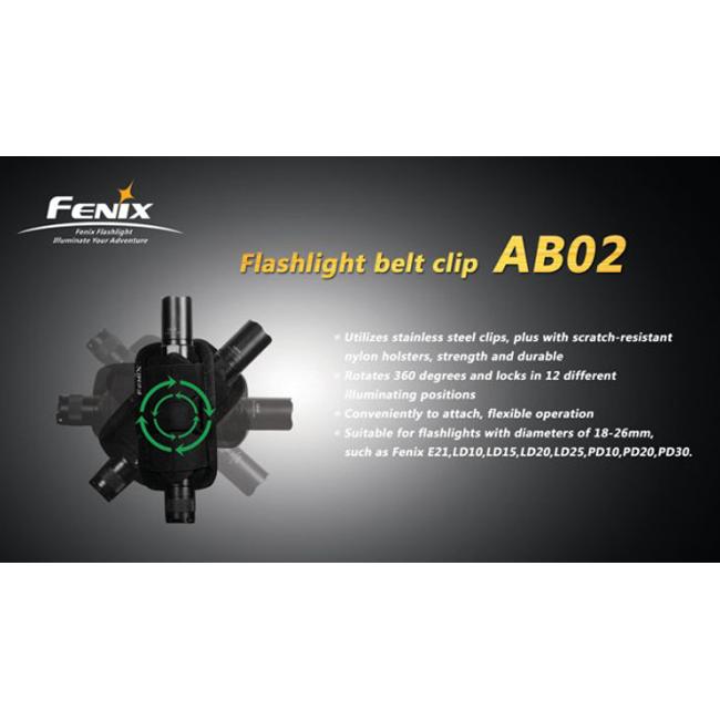 Клипса для фонарей Fenix AB02 (+ Антисептик-спрей для рук в подарок!)