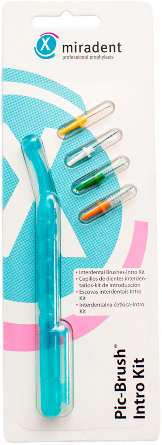 Набор ершиков с держателем Pic-brush Intro Kit (Голубой)