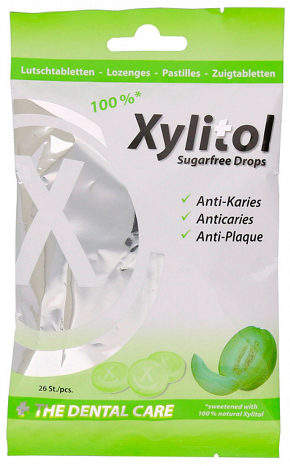 Леденцы miradent Xylitol Drops дыня, 26 шт