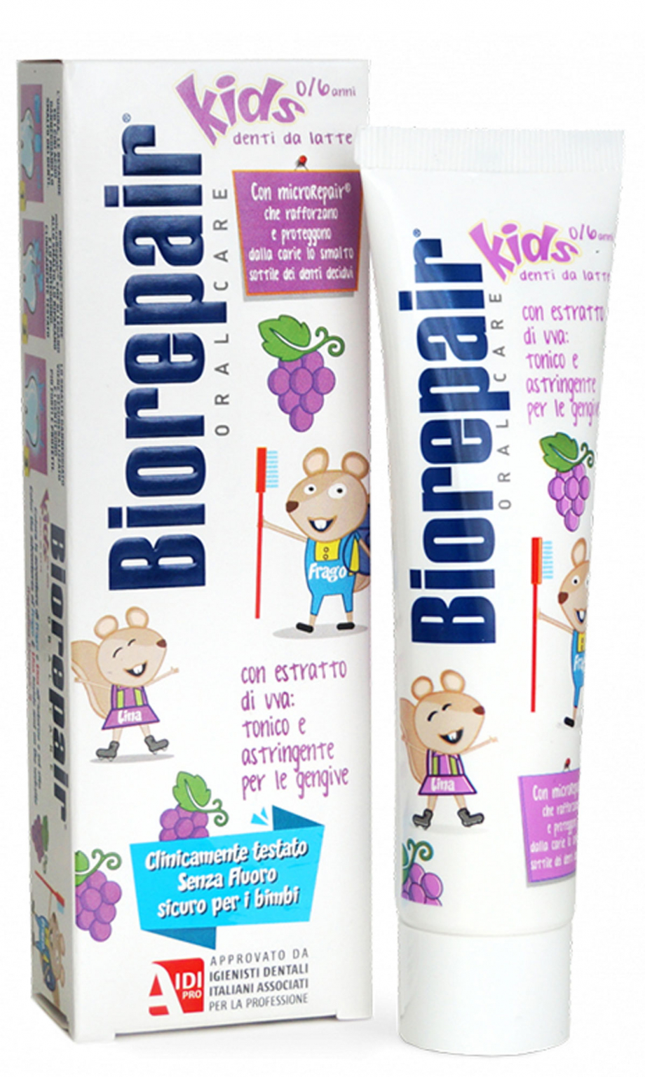Зубная паста Biorepair Kids со вкусом винограда 50 мл