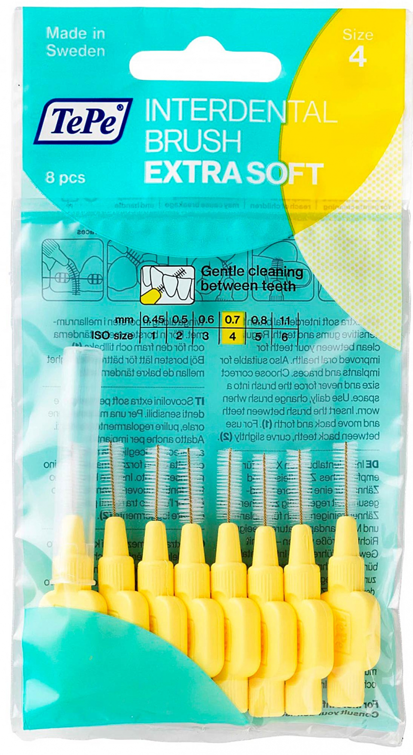 Межзубные ёршики TePe X-Soft Желтый 8 шт