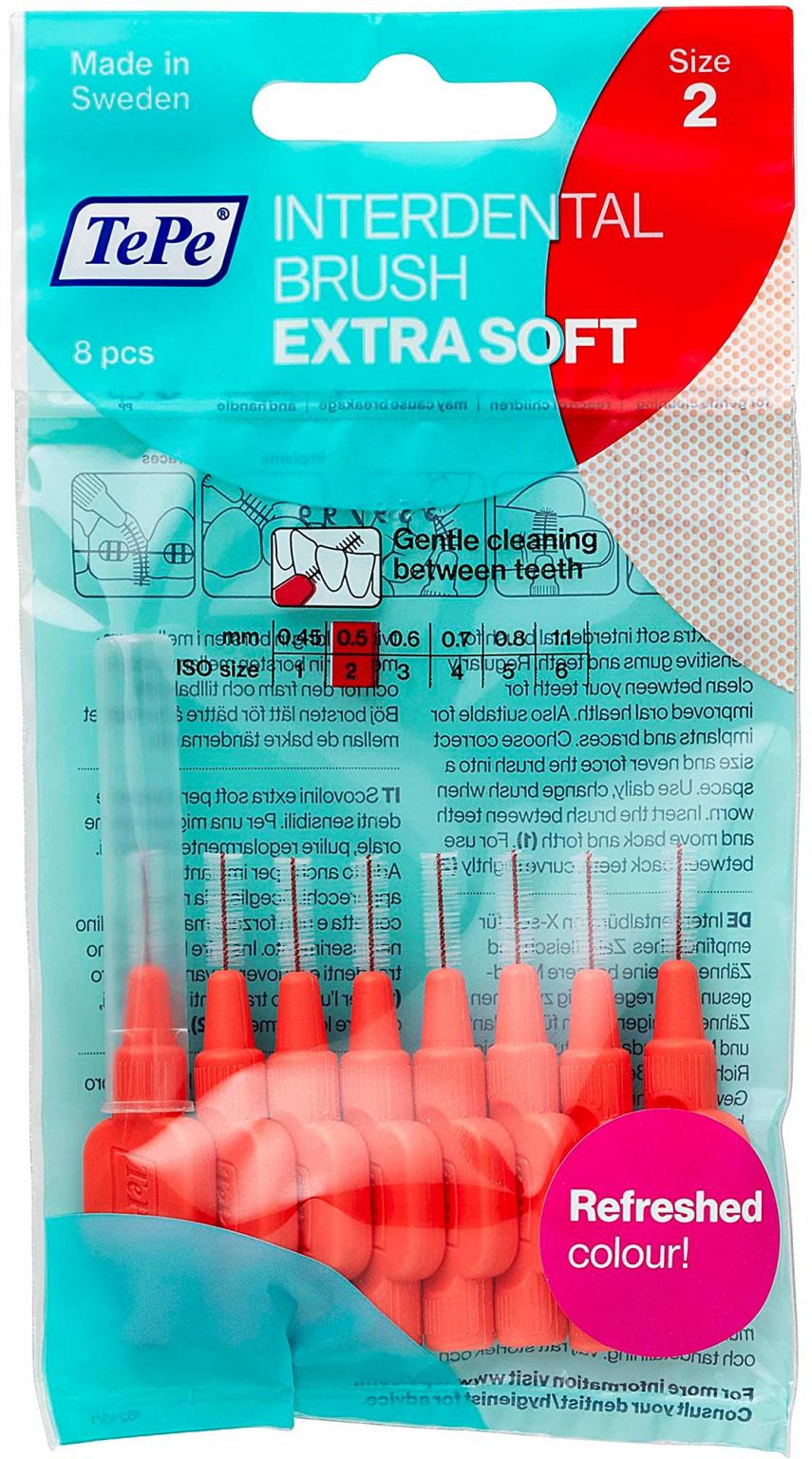 Межзубные ершики TePe X-Soft Красный 8 шт