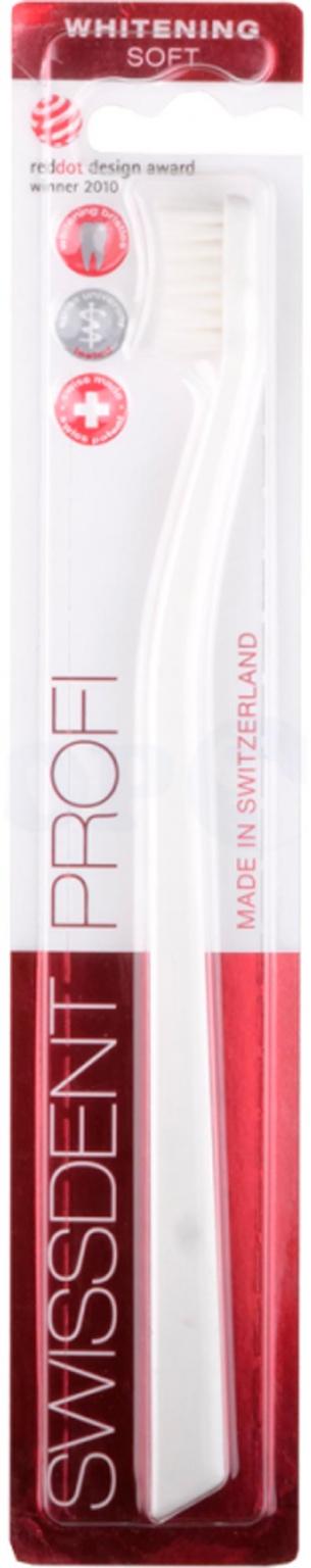 Зубная щетка Swissdent Profi Whitening Soft (белая), 1 шт