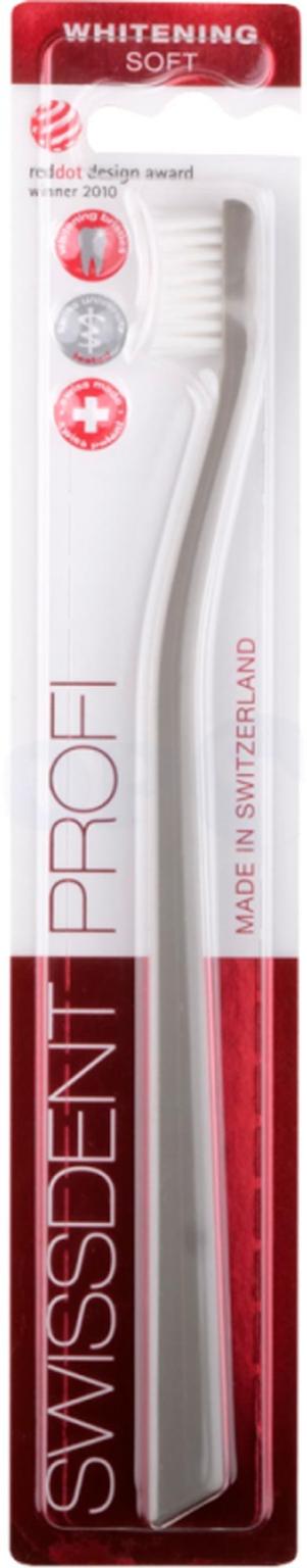 Зубная щетка Swissdent Profi Whitening Soft (серая)