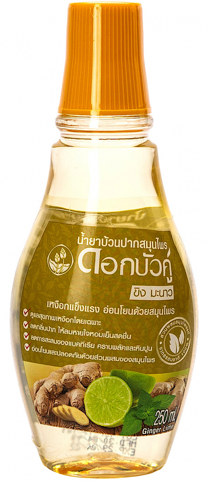 Ополаскиватель Twin Lotus Herbal Mouthwash Имбирь и лайм 250 мл