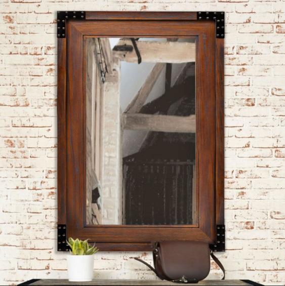 Teak Wood Rustic Mirror Morgan