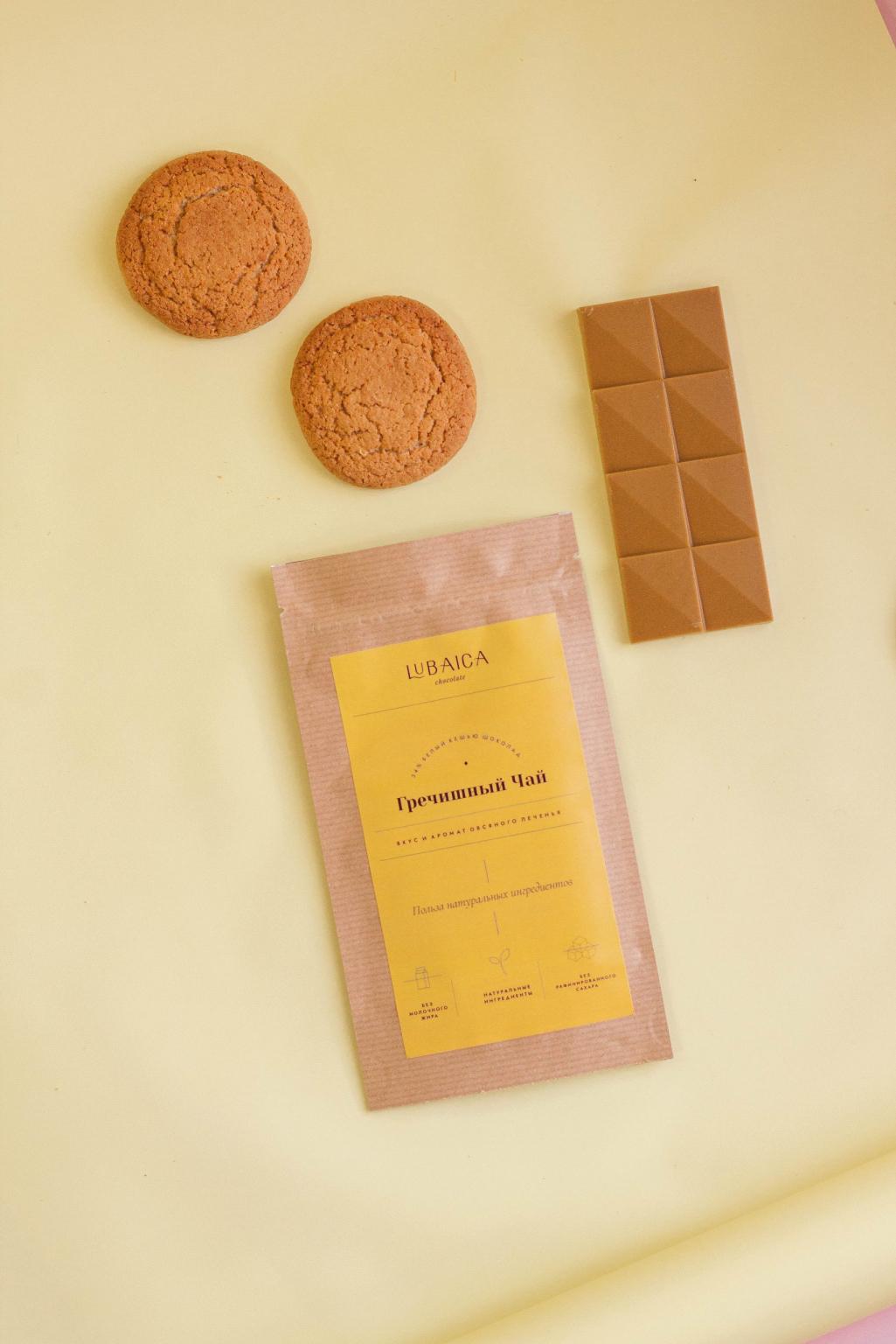 """Белый шоколад """"Гречишный чай"""" 30 г Lubaica"""
