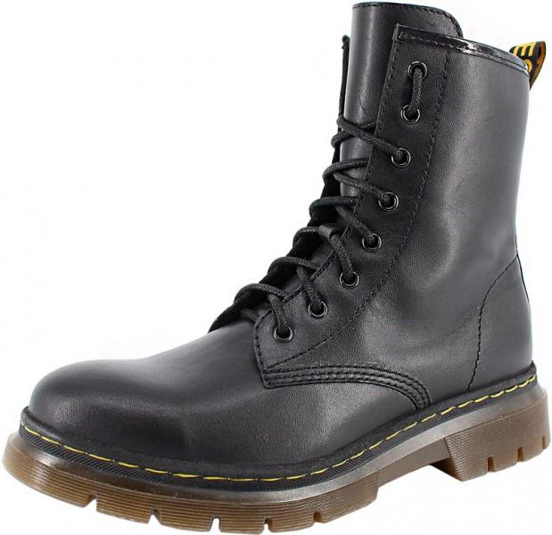 """Модель: м 4-1860 чёрные Ботинки подростковые, женские натуральная кожа """"Лель"""""""