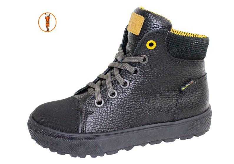 """Модель: м 6-1560 чёрные Ботинки школьные, натуральная кожа """"Лель"""""""