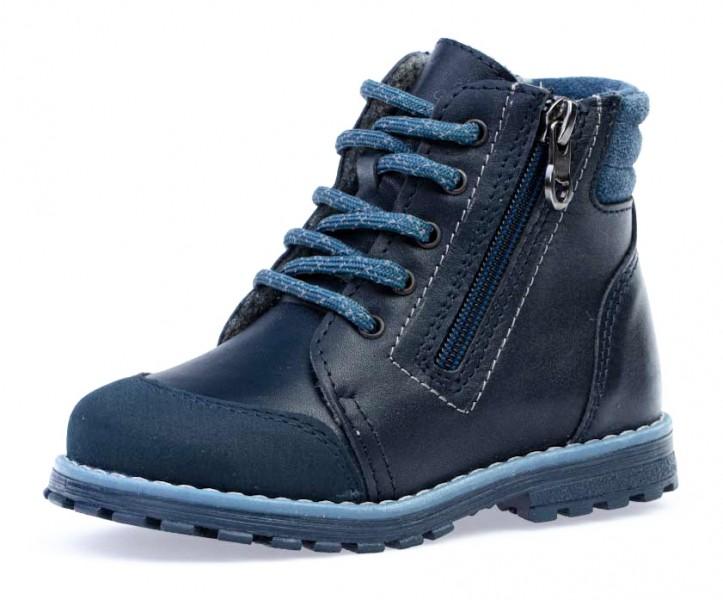 """Модель: 352292-31 синий Ботинки детские для мальчиков, натуральная кожа """"Котофей"""""""