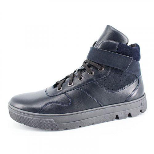 """Модель: м 6-1770 т.синий Ботинки школьные, натуральная кожа """"Лель"""""""