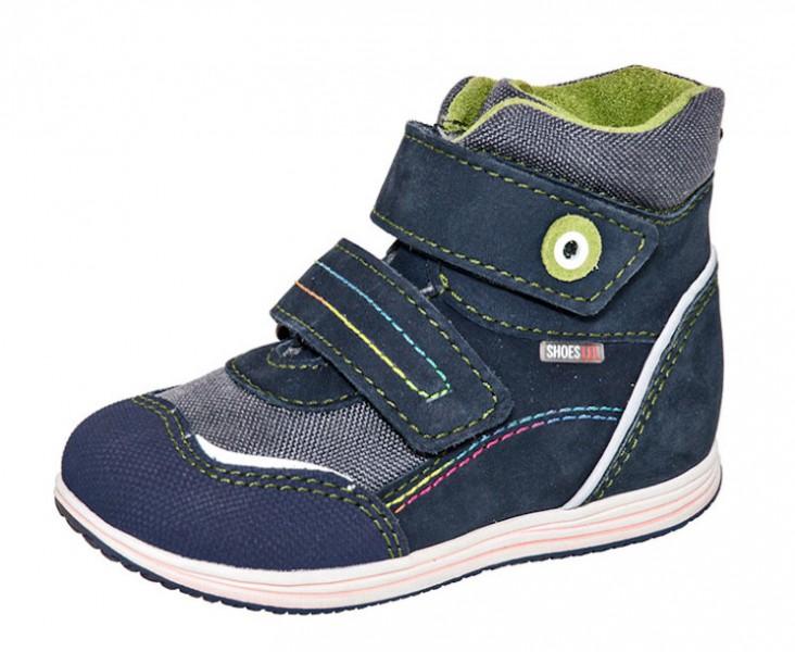 """Модель: м 3-882 синий Ботинки детские натуральная кожа """"Лель"""""""