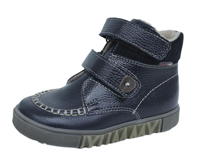 """Модель: м 3-1195 синий Ботинки детские кожаные """"Лель"""""""