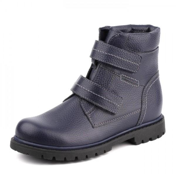 """Модель: 55239 синий Ботинки зимние школьные, подростковые """"Шаговита"""""""