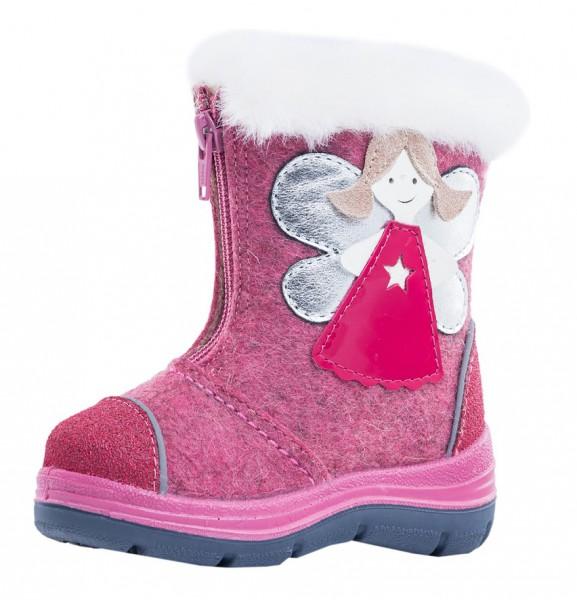 """Модель: 267058-43 розовый Сапожки детские войлок - валенки """"Котофей"""""""