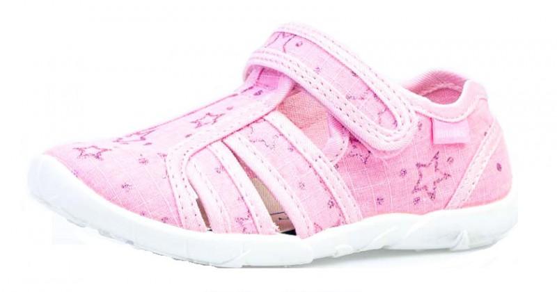 """Модель: 421066-12 розовый Туфли летние для левочек текстиль """"Котофей"""""""
