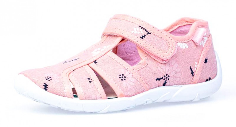 """Модель: 421064-11 розовые Туфли для девочек летние, текстильные """"Котофей"""""""