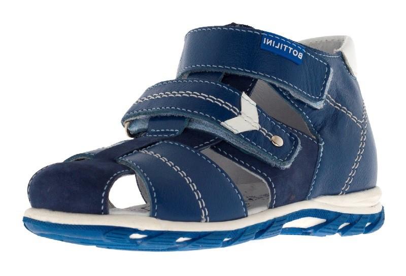 """Модель: SO-178(2) синий Сандалии для мальчиков, кожа натуральная """"Bottilini"""""""