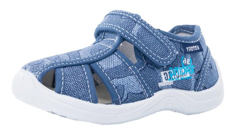 """Модель: 221086-11 синий Туфли летние детские, текстильные """"Котофей"""""""