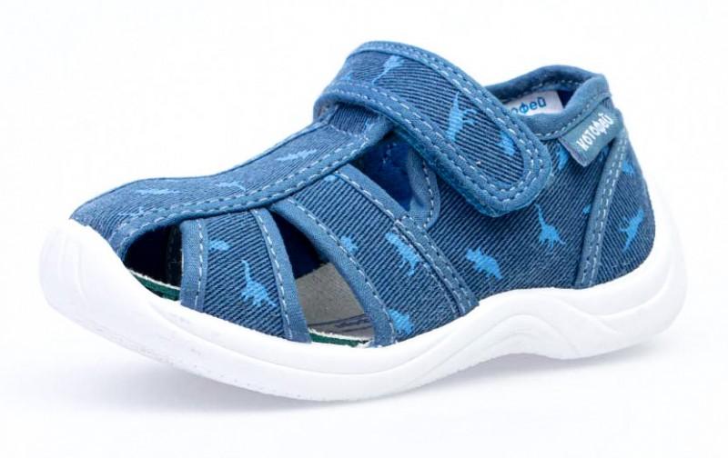 """Модель: 221062-11 синий Туфли летние детские, текстильные """"Котофей"""""""
