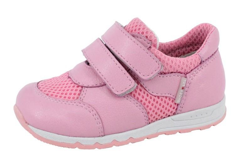 """Модель: м 3-1617 розовые Полуботинки детские - кроссовки кожаные для девочек """"Лель"""""""