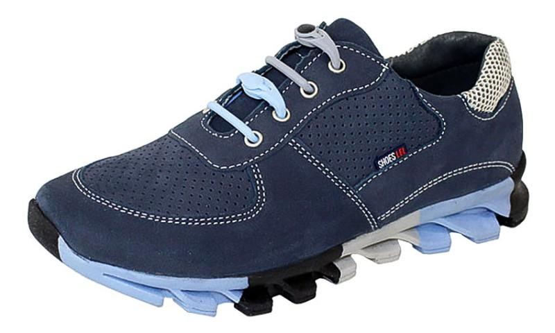 """Модель: м 4-1020 синий Полуботинки - кроссовки школьные, подростковые """"Лель"""""""