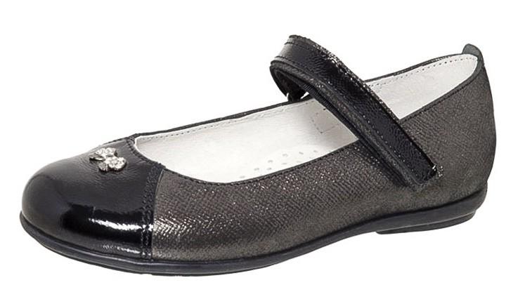 """Модель: м 3-1425 черный Туфли школьные, кожа натуральная """"Лель"""""""
