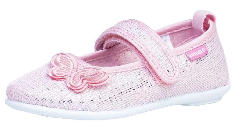 """Модель: 531141-72 розовый Туфли нарядные для девочек, текстиль """"Котофей"""""""