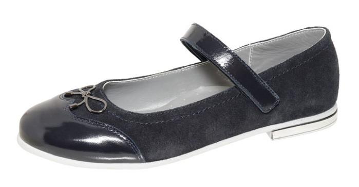 """Модель: м 4-1503 синий Туфли школьные натуральная кожа """"Лель"""""""