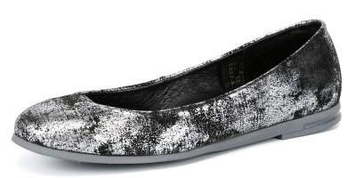 """Модель: м 5-1542 чёрный+серебро Туфли школьные натуральная кожа """"Лель"""""""
