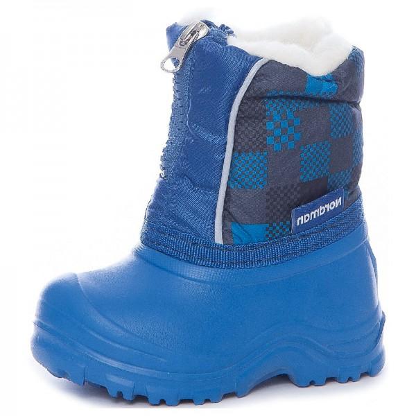 """Модель: 1-016-B07 синий Сноубутсы - сапожки дутики детские """"Nordman"""""""