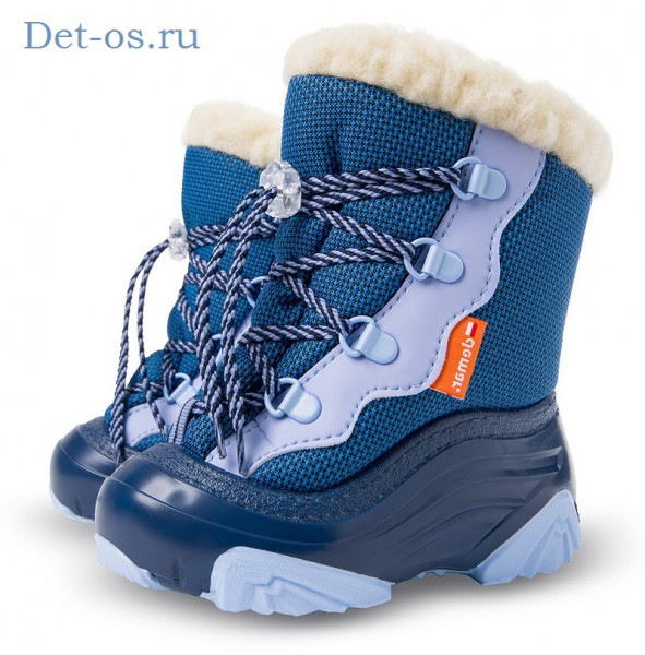 """Модель: 4017 SNOW MAR Демар Сноубутсы (20-29) голубой """"DEMAR"""""""