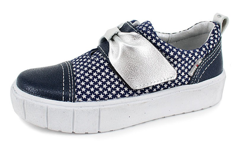 """Модель: м 4-1652 синие Полуботинки для девочек школьные """"Лель"""""""