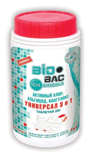 Универсал 3 в 1 (хлор, альгицид, коагулянт) таблетки 20 гр BP-CH90MT1