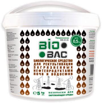 Биологическое средство для рекультивации загрязненных нефтепродуктами почв и водоемов BB-OI25