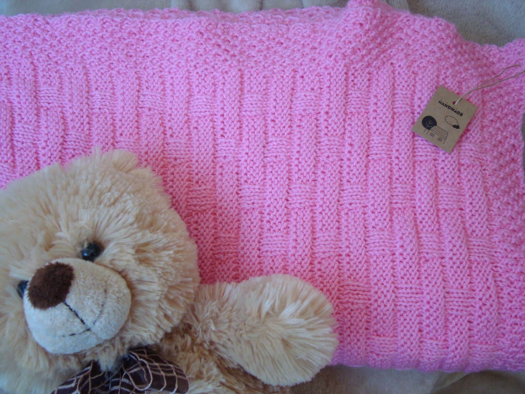 Розовый плед для девочки.