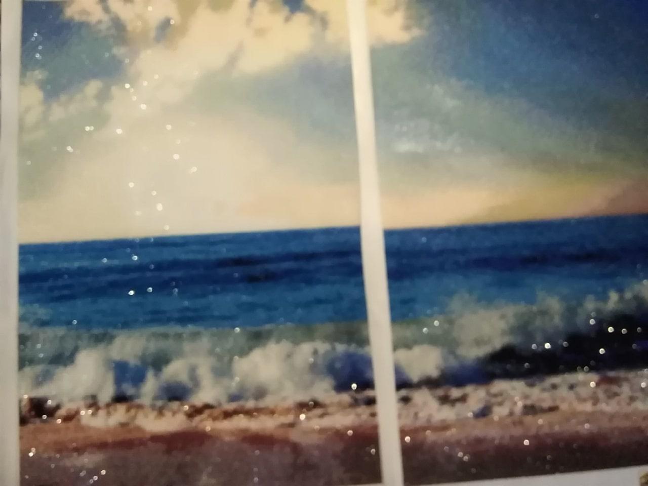 """Модульная картина""""Морской берег"""" алмазные стразы"""