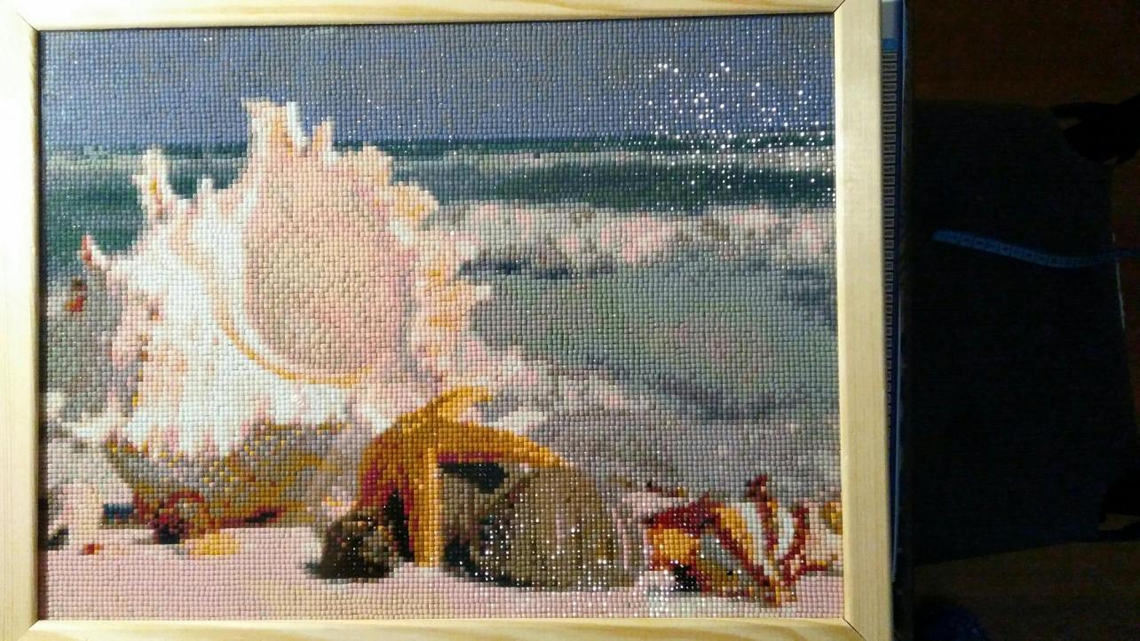 Картина «Морские сокровища» ( выкладка в багете)