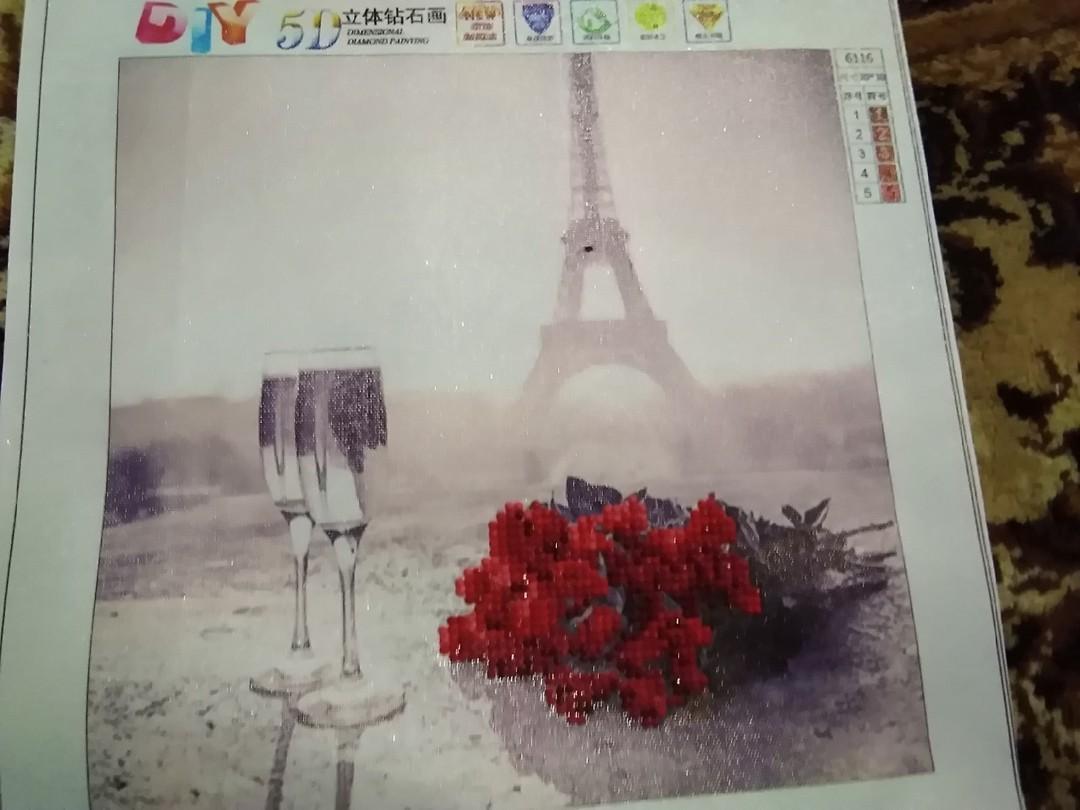 """Алмазная вышивка """"Париж"""" (готовая работа)"""