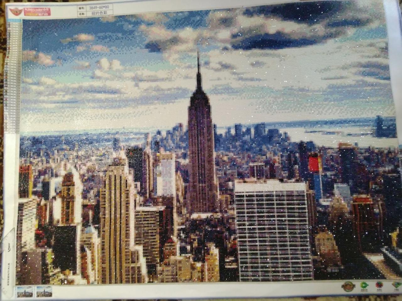 """Алмазная вышивка """"Нью Йорк"""" (готовая работа)"""