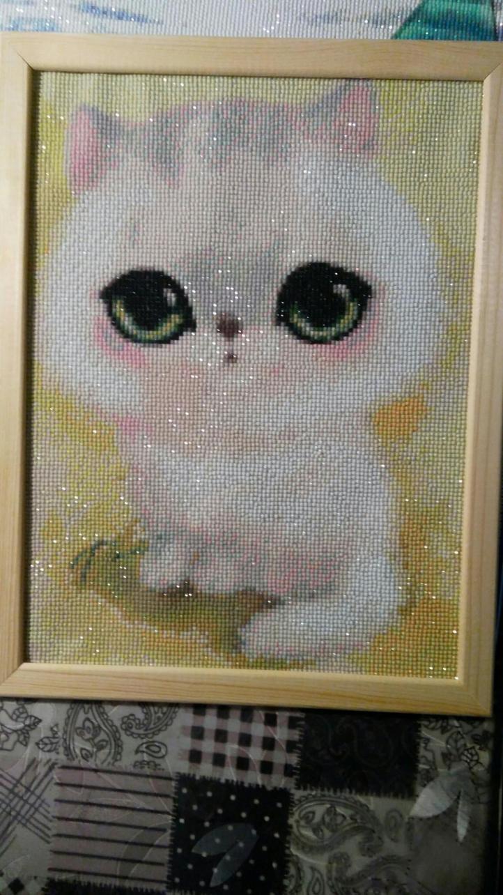 """Картина """"Белый кот"""""""