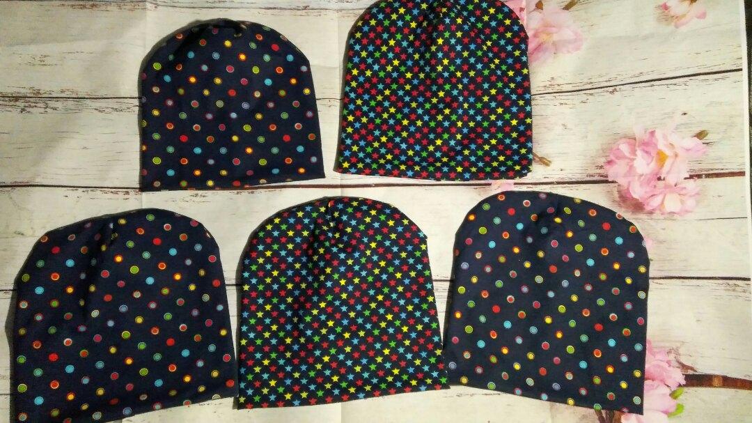 Детские шапочки из трикотажа