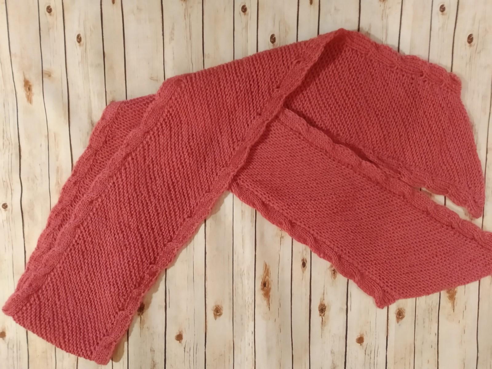 Двусторонний шарф. (Темная роза)