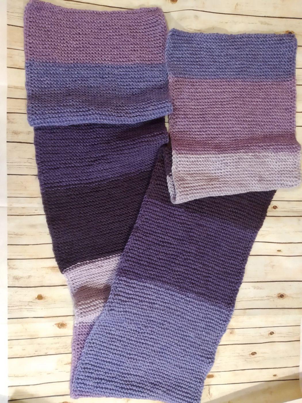 Вязаный шарф (широкий)