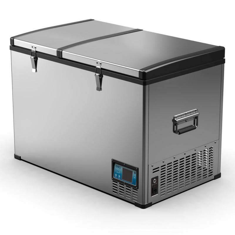 Автохолодильник компрессорный двухкамерный Alpicool BCD125 (12/24/220В) (+ Аккумулятор холода в подарок!)