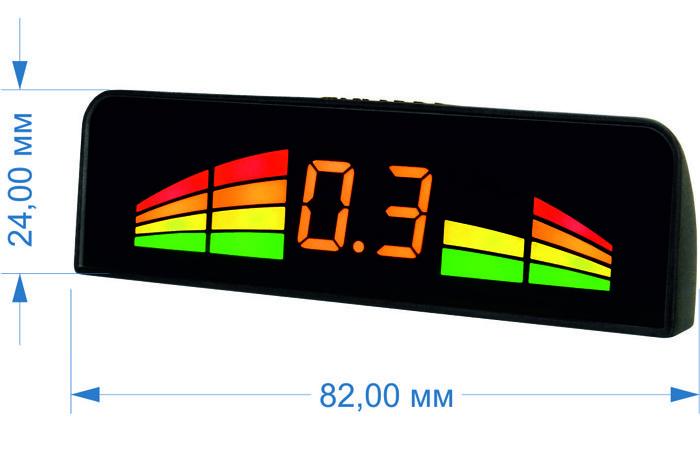 Парктроник модель AAALine LED-14 Black (+ Антисептик-спрей для рук в подарок!)