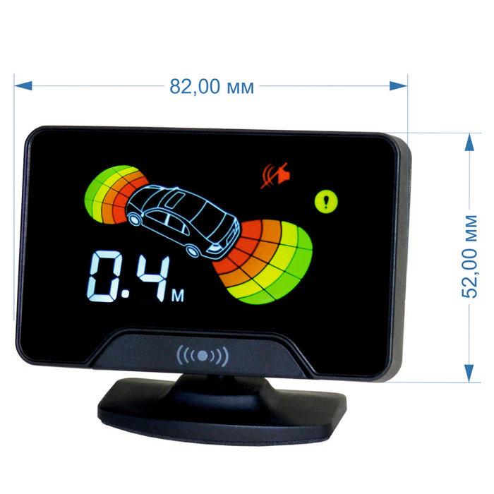 Парктроник модель AAALine LCD-18 Silver (+ Антисептик-спрей для рук в подарок!)