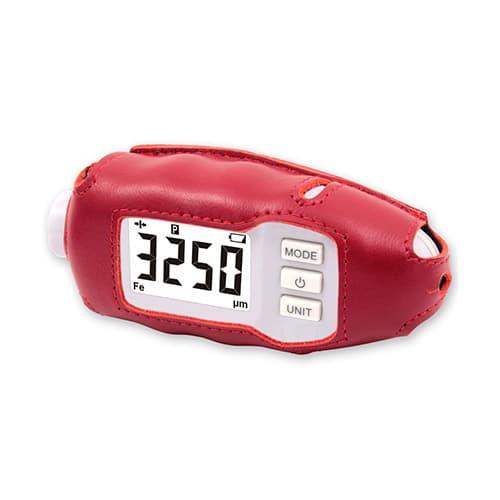 Кожаный чехол для толщиномера CARSYS  DPM-816 красный