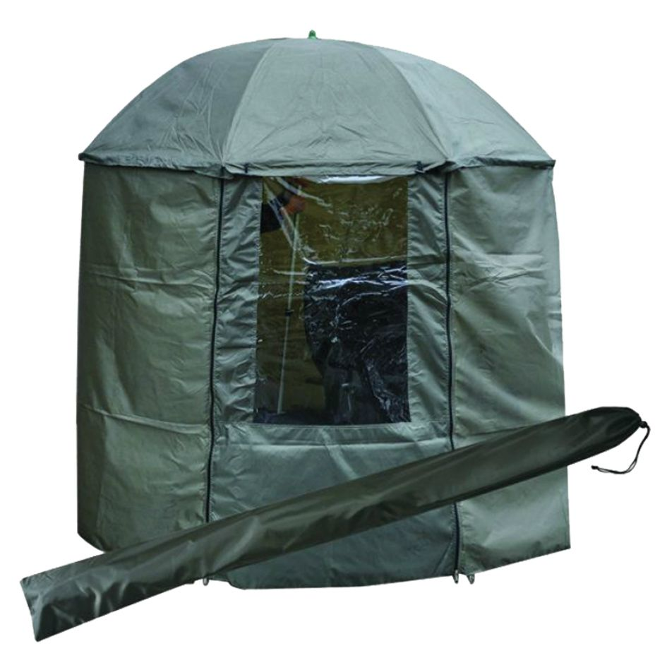 Зонт рыболовный Tramp 200 см с пологом (зеленый)